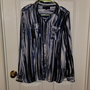 Jones New York signature 100% polyester top
